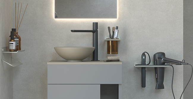 Imagen ambiental serie PUZZLE: Designed for compact spaces