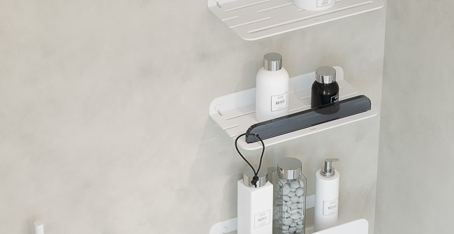 Imagen ambiental serie SHOWER SHELVES
