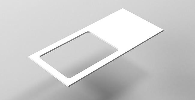 Imagen producto ENCIMERA 100 plana desplaza.IZ/DCHA