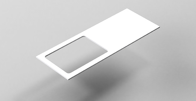 Imagen producto COUNTERTOP 120  OFFSET EDGE.LEFT/RIGHT