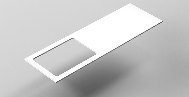 Imagen producto COUNTERTOP 140 OFFSET EDGE.LEFT/RIGHT