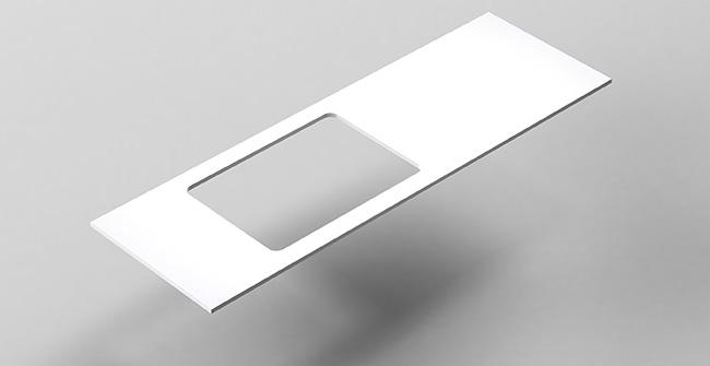 Imagen producto ENCIMERA 140 plana descentrada.IZ/DCHA