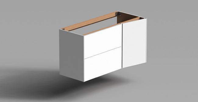 Imagen producto FRACTAL 110 WAND UNTERSCHRANK