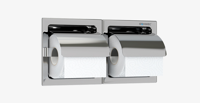 Imagen producto DOUBLE RECESSED ROLL HOLDER