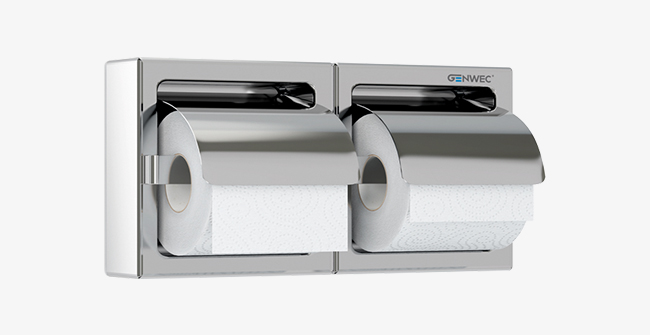 Imagen producto DOUBLE SEMI-RECESSED ROLL HOLDER