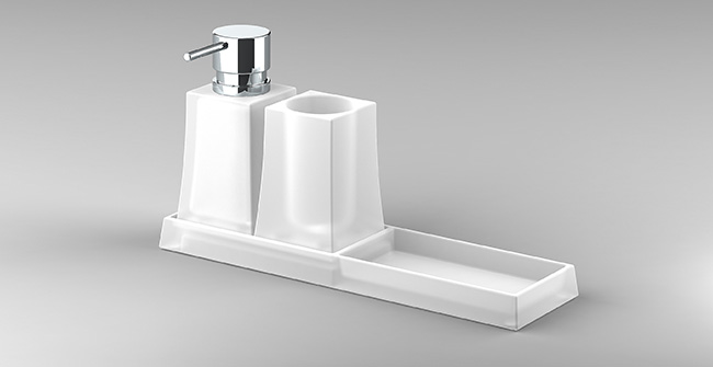 Imagen producto TRAY (TUMBLER+SOAP DISPENSER)